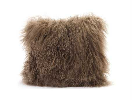 Moe's Home Collection Lamb Fur Natural Pillow MEXU100024