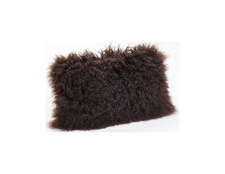 Moe's Home Collection Lamb Fur Rectangular Brown Pillow MEXU100120