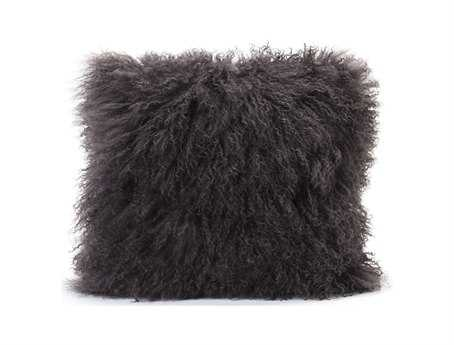 Moe's Home Collection Lamb Fur Gray Pillow MEXU100029