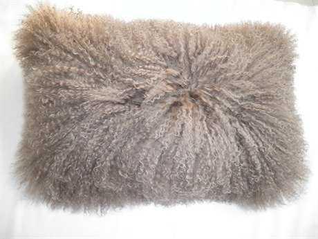Moe's Home Collection Lamb Fur Rectangular Natural Pillow