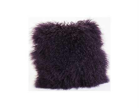 Moe's Home Collection Lamb Fur Purple Pillow