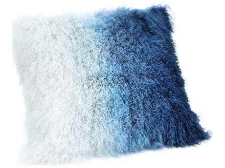 Moe's Home Collection Lamb Fur Blue Spectrum Pillow MEXU100636