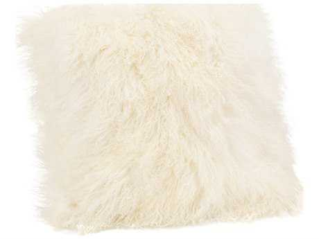 Moe's Home Collection Lamb Fur Large Cream Pillow MEXU100505