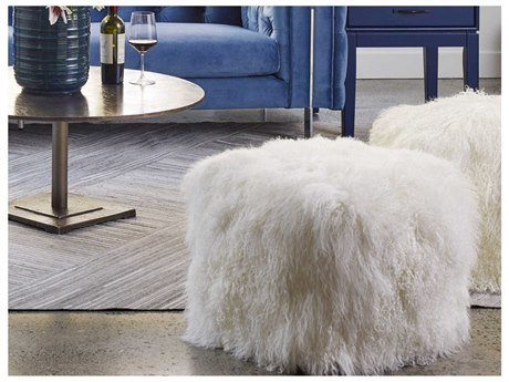Moe's Home Collection Natural Lamb Fur Pouf MEXU100924