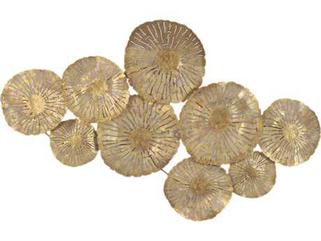 Moe's Home Collection Gold Large Circles Wall Decor MEMH106232