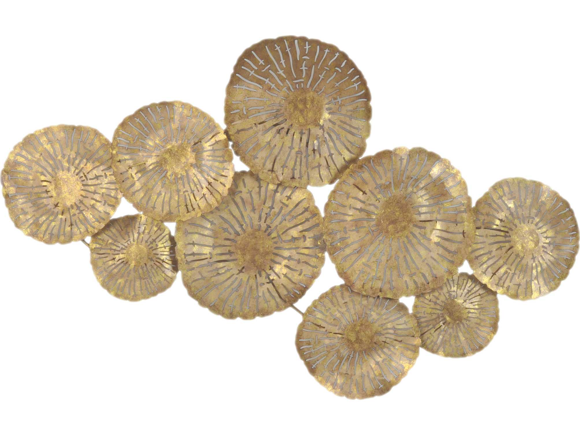 Moe's Home Collection Gold Large Circles Wall Decor