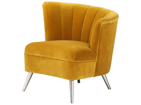 Moe's Home Collection Layan Yellow Right Accent Chair MEME104209