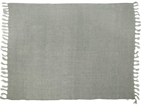 Moe's Home Collection Lemmy Grey Heavy Linen Throw MEAM100129