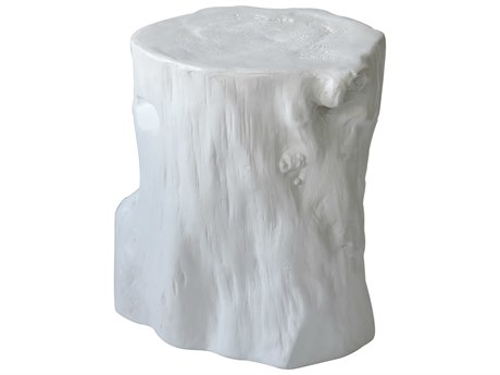 Moe's Home Collection Log Antique White Stool