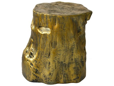 Moe's Home Collection Log Gold Stool