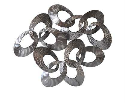 Moe's Home Collection Silver Looped Metal Wall Decor MEMJ100830