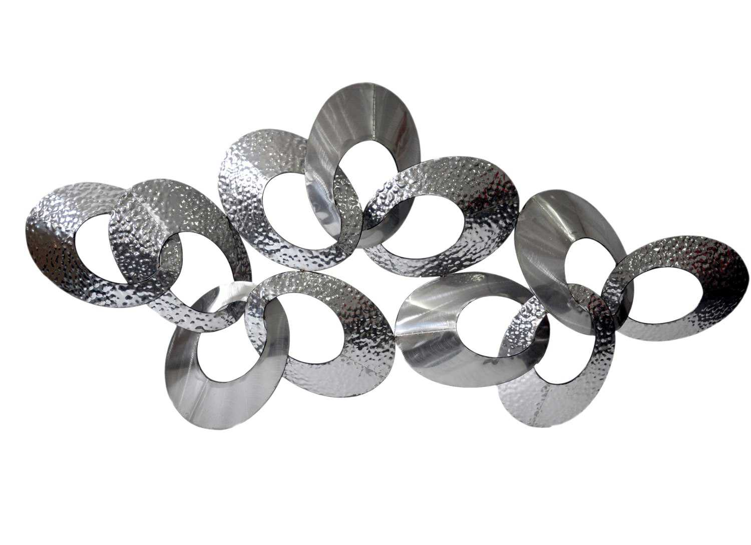 Silver Looped Metal Wall Decor