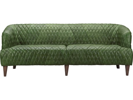 Moe's Home Collection Magdelan Emerald Tufted Leather Sofa