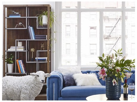 Moe's Home Collection Mayer Natural 39.5'' x 15.75'' Vertical Display Shelf