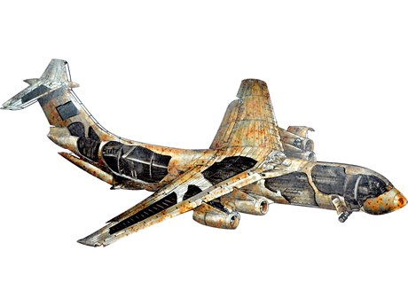 Moe's Home Collection Airliner Metal Wall Art