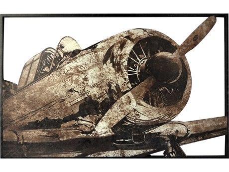 Moe's Home Collection Metal Prop Plane Metal Wall Art