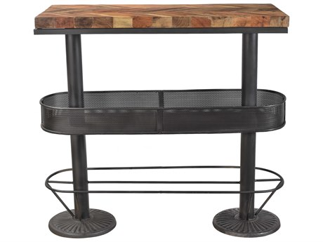 Moe's Home Collection Morrissey Black 44'' x 20'' Rectangular Bar Table MEBX100902
