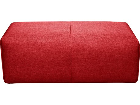 Moe's Home Collection Nathaniel Red Ottoman MEMT101004