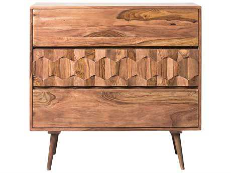 Moe's Home Collection O2 37.5'' x 18'' Sheesham Wood Three Drawer Chest