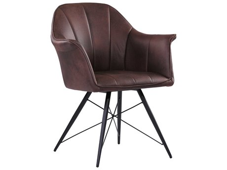 Moe's Home Collection Olivier Taupe Arm Dining Chair
