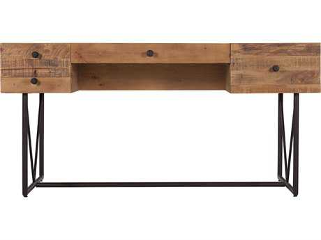 Moe's Home Collection Orchard 63'' x 29'' Pine Wood Desk with Steel Legs