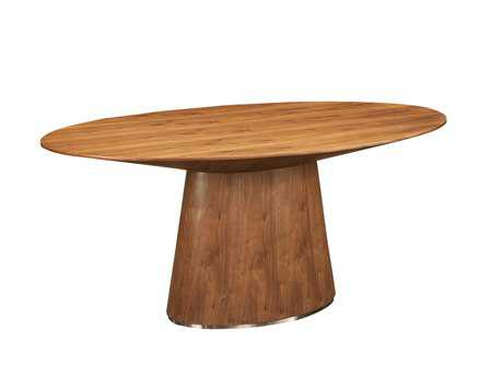 Moe's Home Collection Otago 71 x 43 Oval Walnut Dining Table MEKC100703