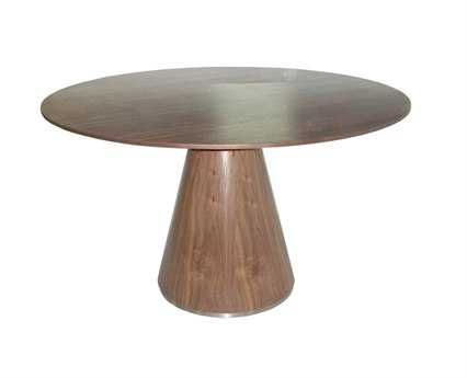 Moe's Home Collection Otago 51 Round Walnut Dining Table