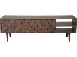 Pablo 55'' x 14'' Dark brown Entertainment Center