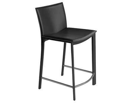 Moe's Home Collection Panca Black Counter Stool 26 MEEH103402