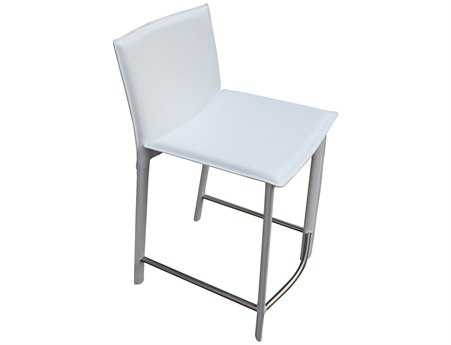 Moe's Home Collection Panca White Counter Stool 26 MEEH103418