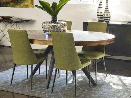 Moe's Home Collection Parq Cappuccino 72'' x 42'' Oval Dining Table METL101914