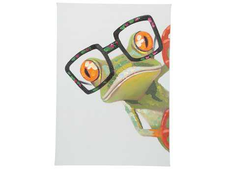 Moe's Home Collection Peeking Frog Wall Painting MERE108537