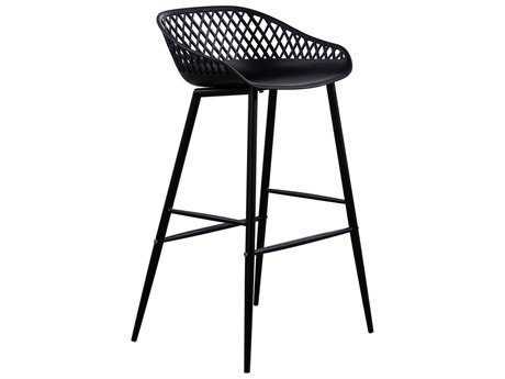 Moe's Home Collection Piazza Black Side Bar Height Stool