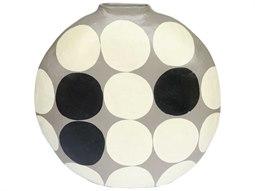 Polka Dot Grey Vase