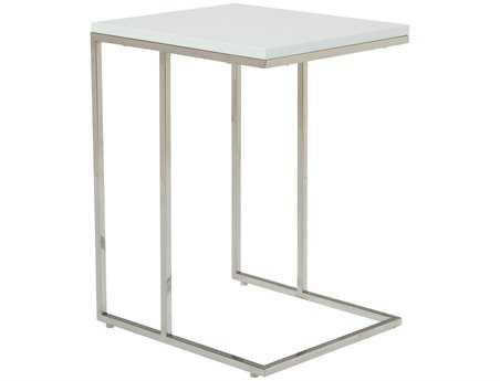 Moe's Home Collection Posta 17 x 15 Rectangular White Side Table MEMS101218
