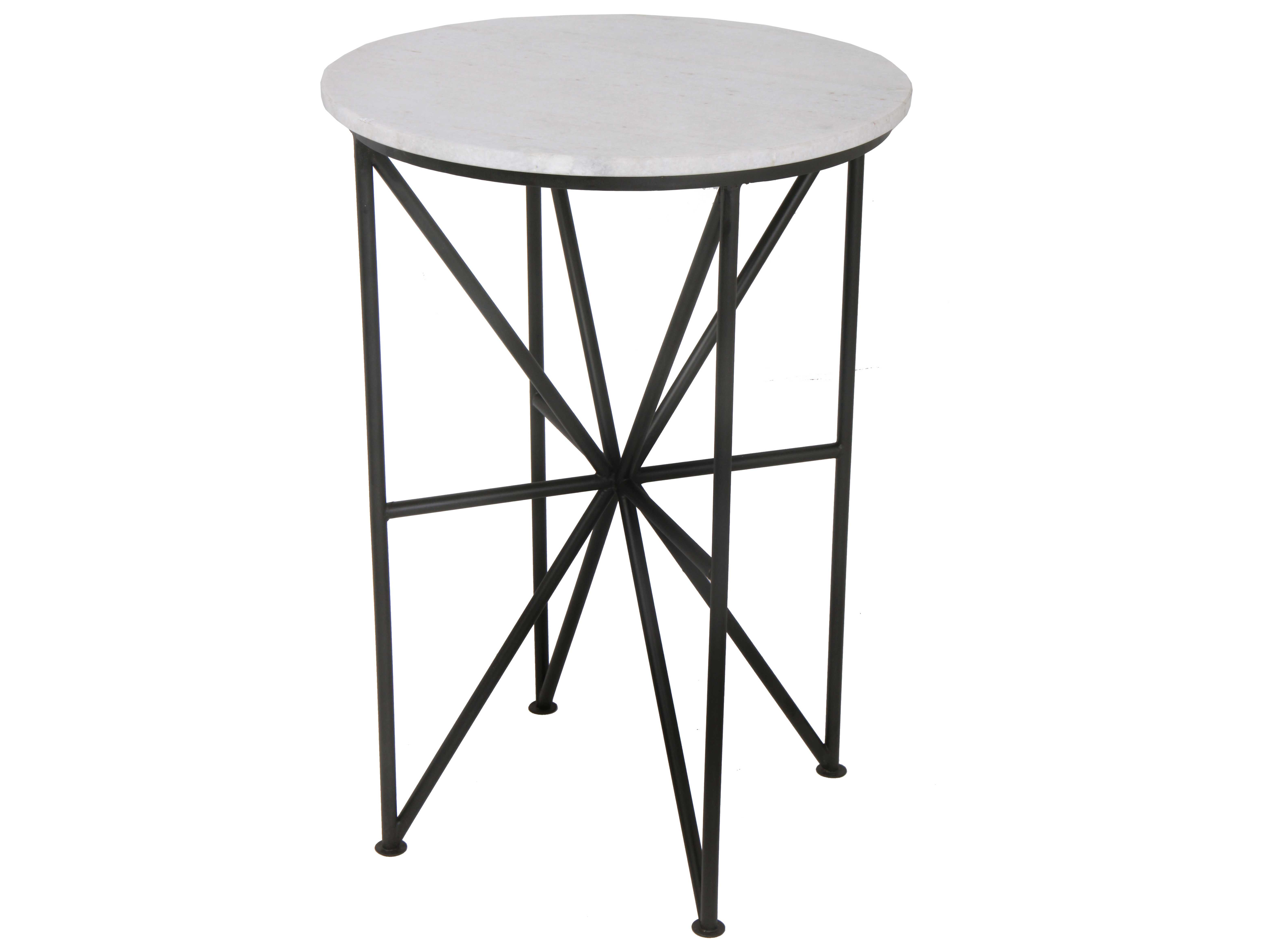 - Moe's Home Collection Quadrant 17'' Round Black Glass Accent Table