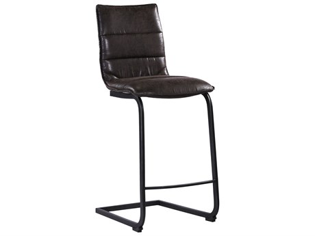 Moe's Home Collection Radiant Black Side Bar Height Stool (Set of 2)