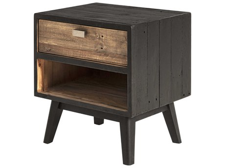Moe's Home Collection Black One-Drawer Nightstand