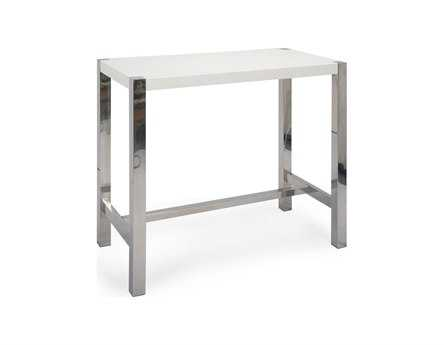 Moe's Home Collection Riva 47 x 24 Rectangular White Bar Table MEER108018