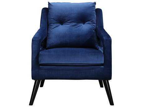 Moe's Home Collection Rollins Blue Arm Accent Chair
