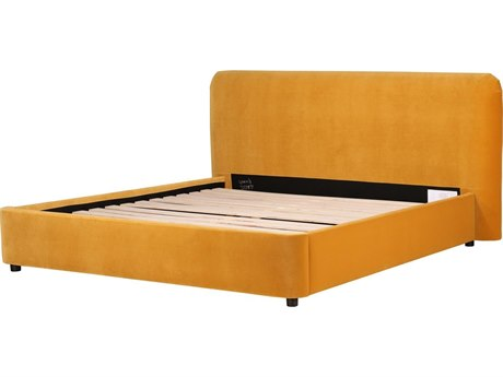 Moe's Home Collection Samara Yellow Queen Platform Bed