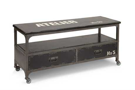 Moe's Home Collection Soho 47 x 16.5 Rectangular Black TV Stand MEHU109902