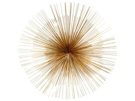 Moe's Home Collection Starburst Gold Wall Decor MEMK101132