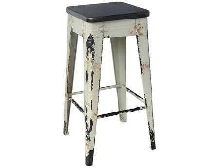 Moe's Home Collection Sturdy White Bar Stool
