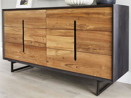 Moe's Home Collection Vienna Light Brown Six-Drawer Double Dresser