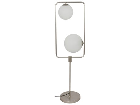 Moe's Home Collection Whistler Champagne Two-Light Glass Floor Lamp