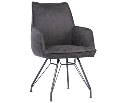 Moe's Home Collection Wilson Charcoal Grey Arm Dining Chair