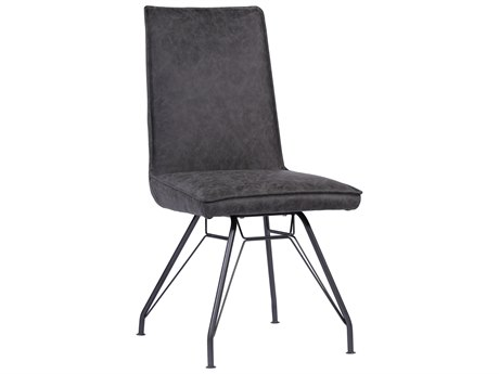 Moe's Home Collection Wilson Charcoal Grey Side Counter Height Stool (Set of 2)