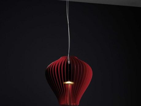 Molto Luce Lamella Fragola One-Light 13'' Wide Pendant ML59211