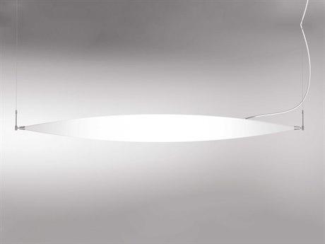 Molto Luce Moon Chrome One-Light 76.5'' Wide LED Island Light ML54730195USA